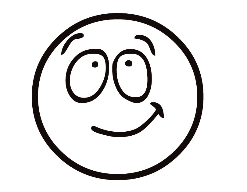 Emoji Coloring Pages - Half Smile