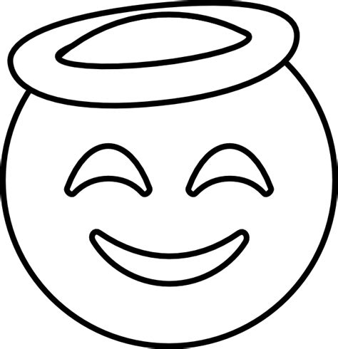 Emoji Coloring Pages - Halo