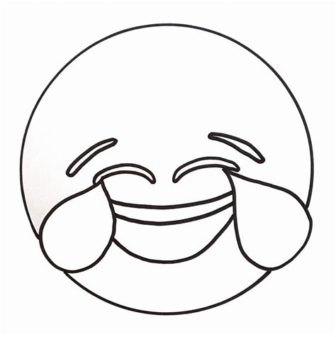 Emoji Coloring Pages - Laugh til I Cry