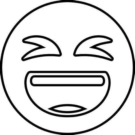 Emoji Coloring Pages - Laugh