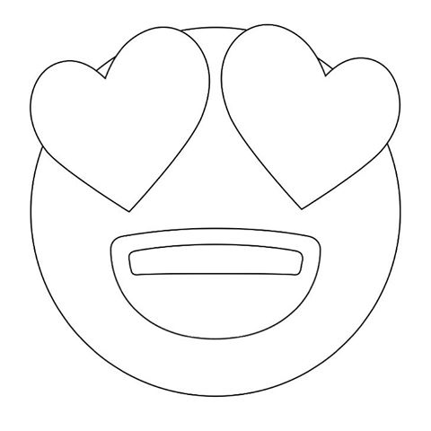 Emoji Coloring Pages - Love