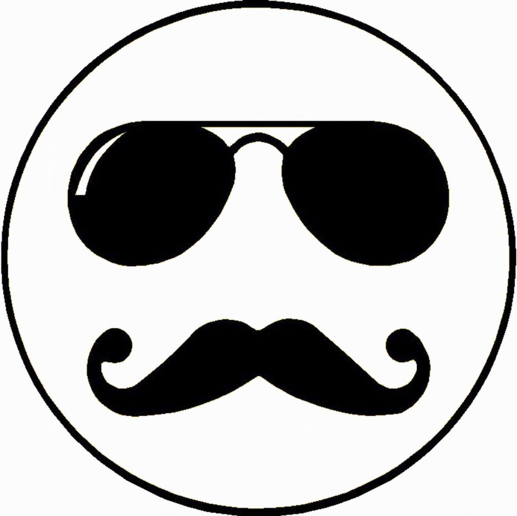 Emoji Coloring Pages -Mustache