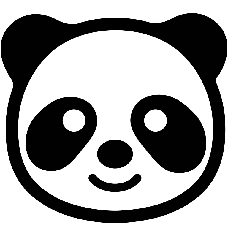 Emoji Coloring Pages - Panda