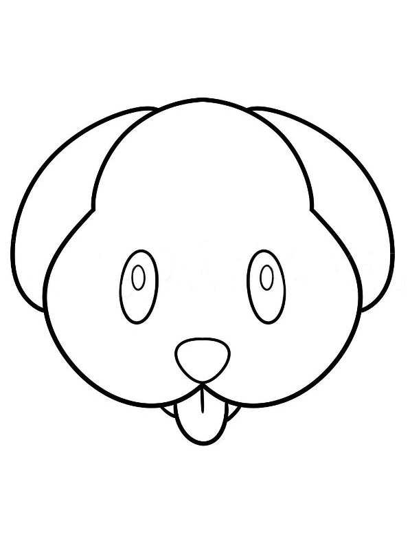 Emoji Coloring Pages - Puppy