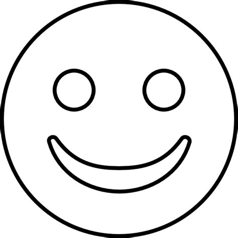 Emoji Coloring Pages - Smile
