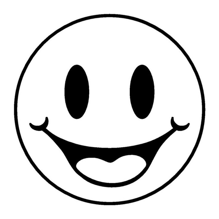 Emoji Coloring Pages - Smiling