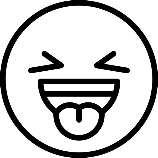 Emoji Coloring Pages - Sticking out Tongue