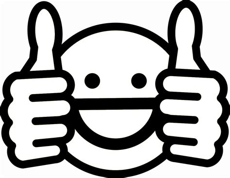 Emoji Coloring Pages - Thumbs Up