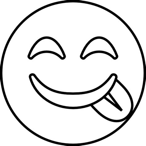 Emoji Coloring Pages - Tongue