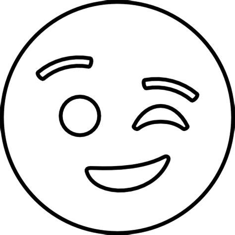 Emoji Coloring Pages - Wink