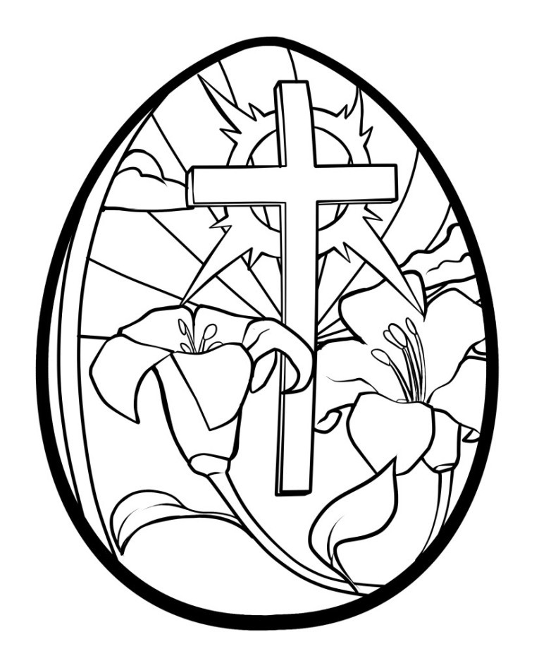 coloring pages of a cross - religious easter coloring pages best coloring pages for kids