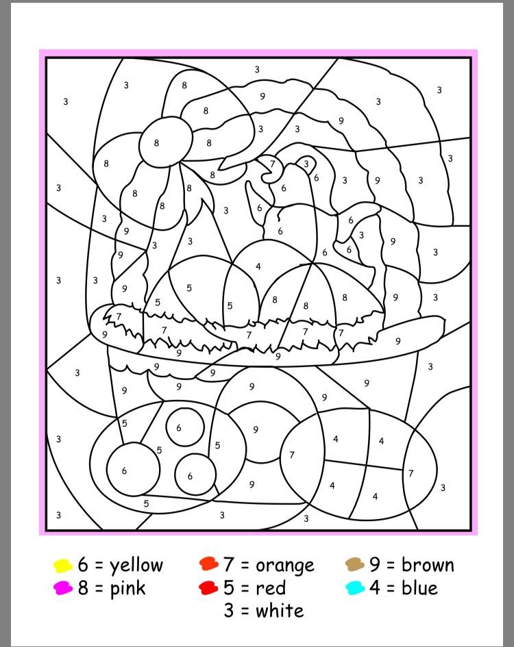 Free Easter Color by Numbers