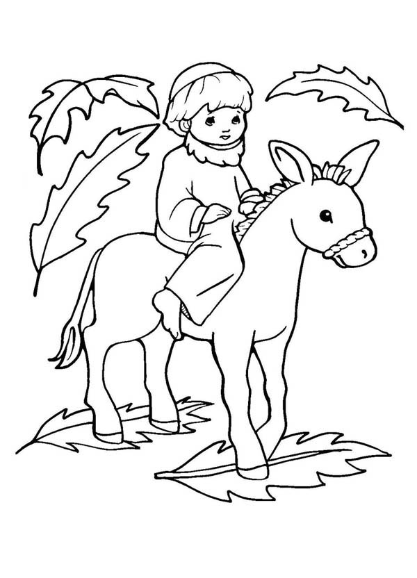 free palm sunday coloring pages - Free Palm Sunday Coloring Pages