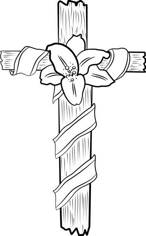 Good Friday Cross Coloring Pages