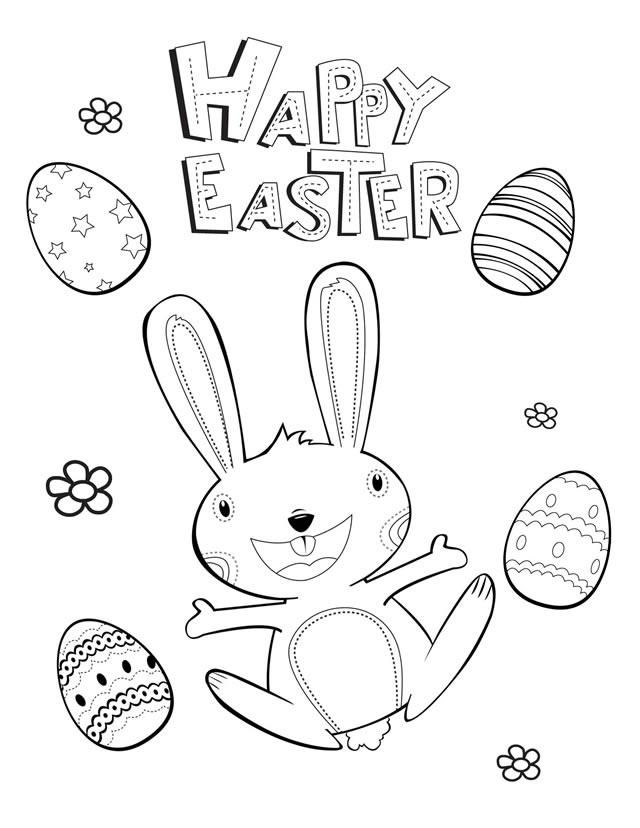 Happy Easter Coloring Pages Free