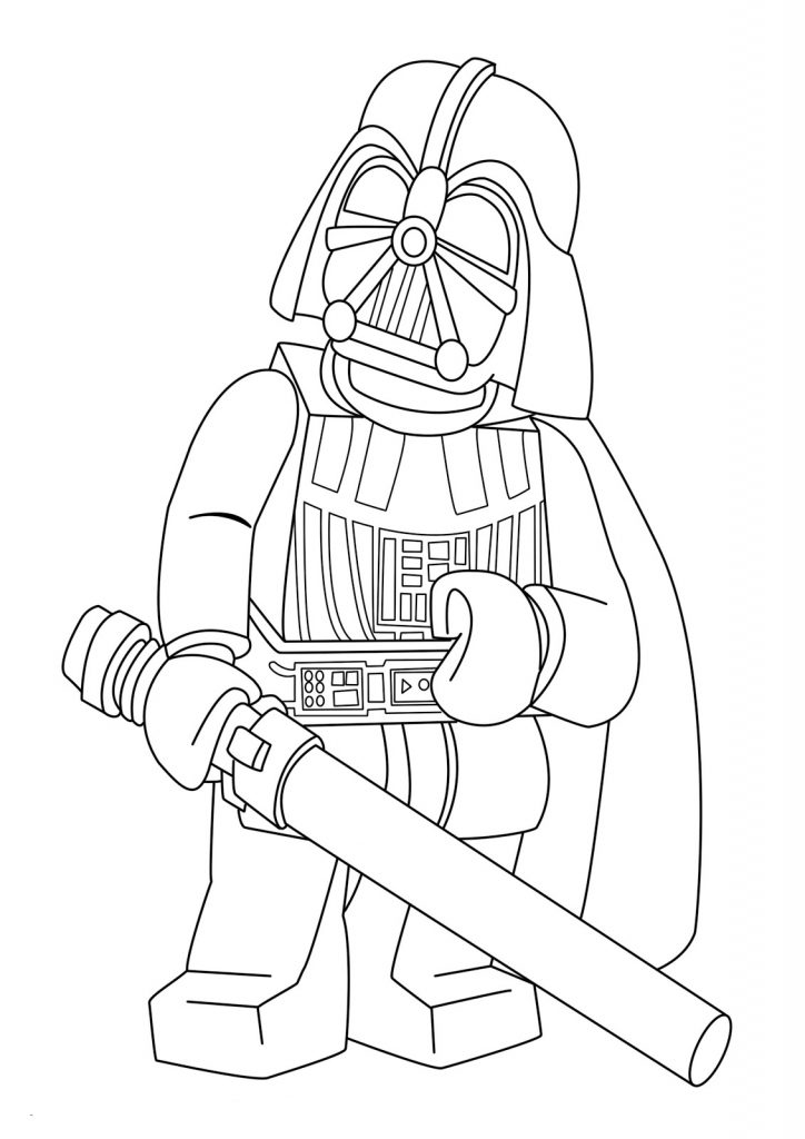 Lego Star Wars Coloring Page Vader