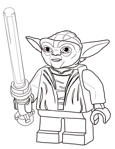 Lego Star Wars Coloring Pages Free Yoda