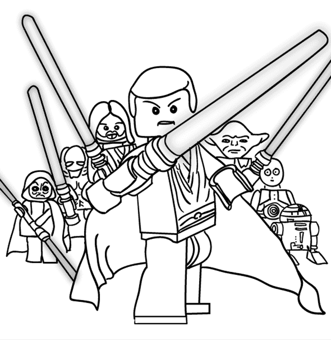 free coloring pages and star wars | Lego Star Wars Coloring Pages - Best Coloring Pages For Kids