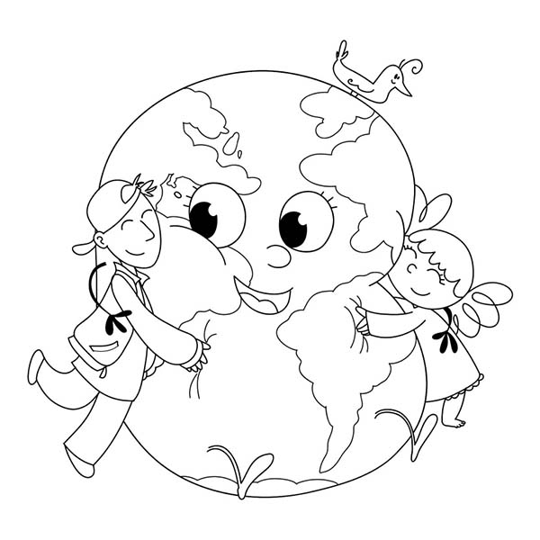 love earth day coloring pages - photo#2