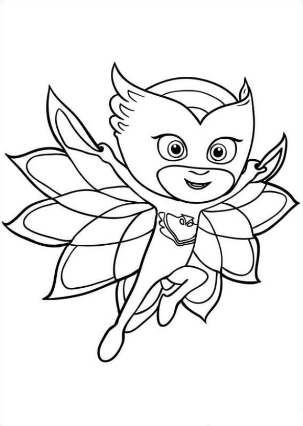 Clean image with regard to pj masks coloring pages printable