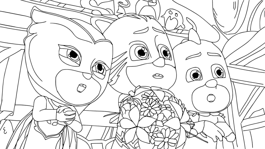 PJ Masks Characters Coloring Pages