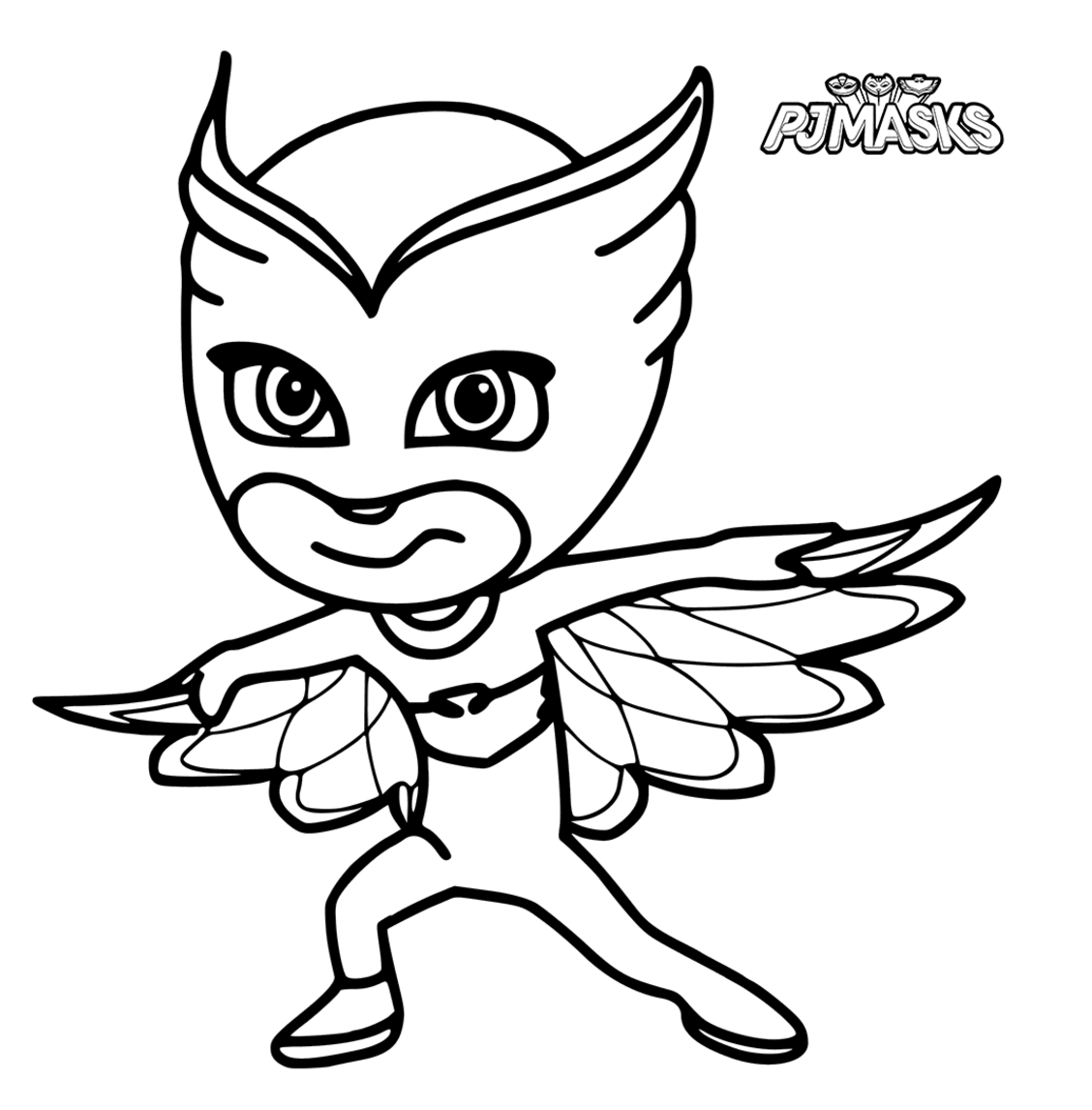 Pj Masks Coloring Pages Black And White