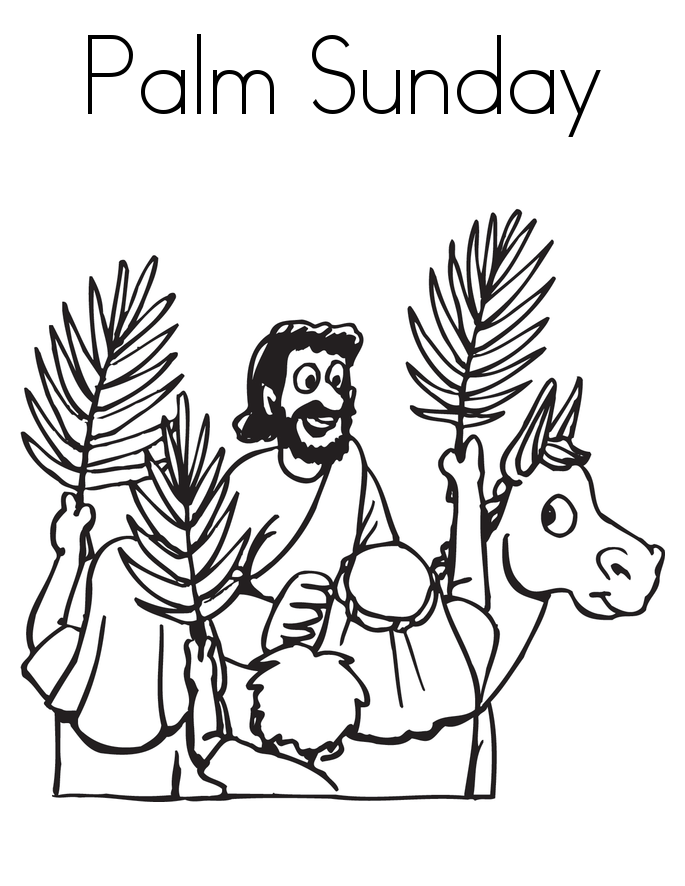 palm sunday coloring pages printable - photo#15