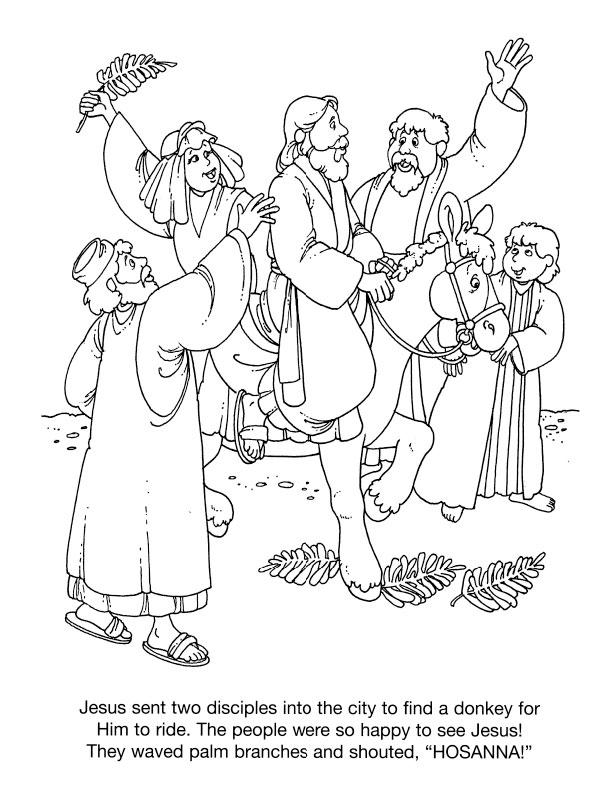 palm sunday donkey coloring pages - photo#25