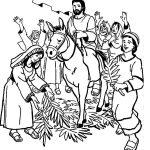 Print Palm Sunday Coloring Pages