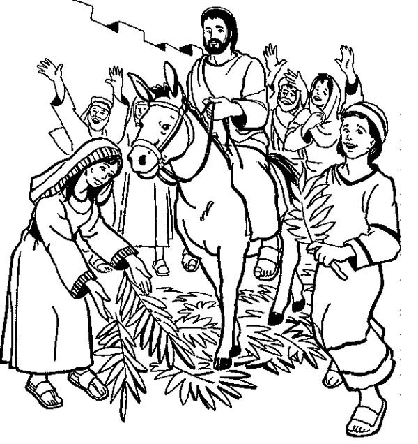 palm sunday donkey coloring pages - photo#8