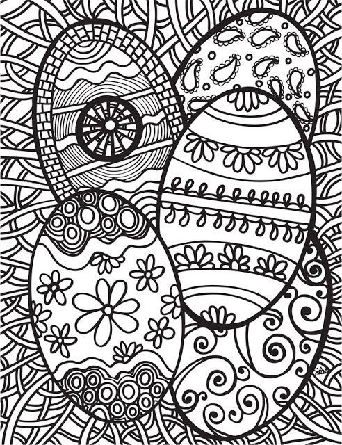 Coloring Pages For Adults Easter Eggs : Easter coloring pages for adults best
