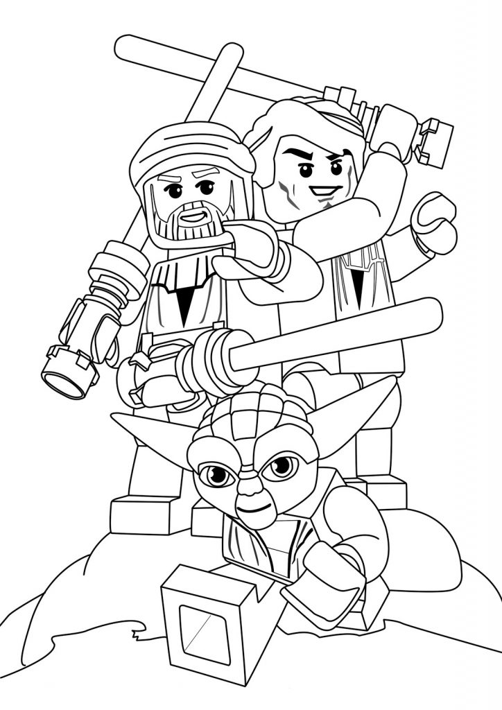 Printable Lego Star Wars Coloring Pages