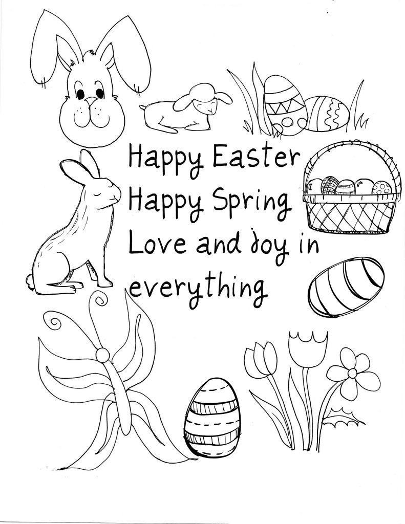 Saying - Happy Easter Coloring Pages