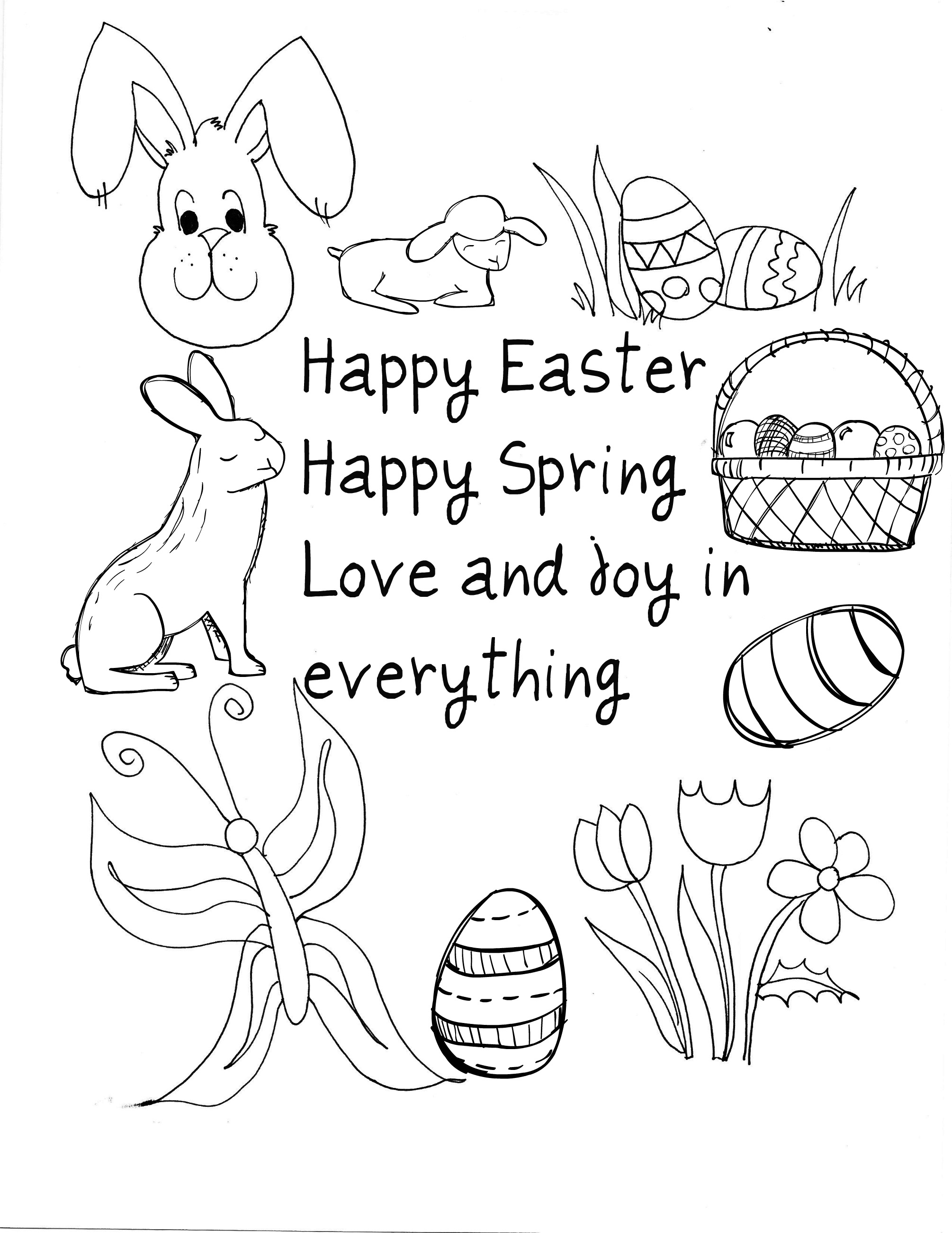 happy children coloring pages - photo#42