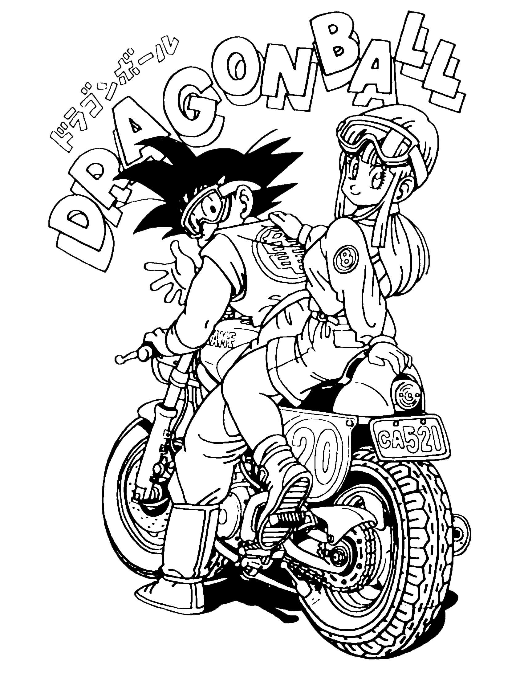 coloring pages dragonballz - photo#21