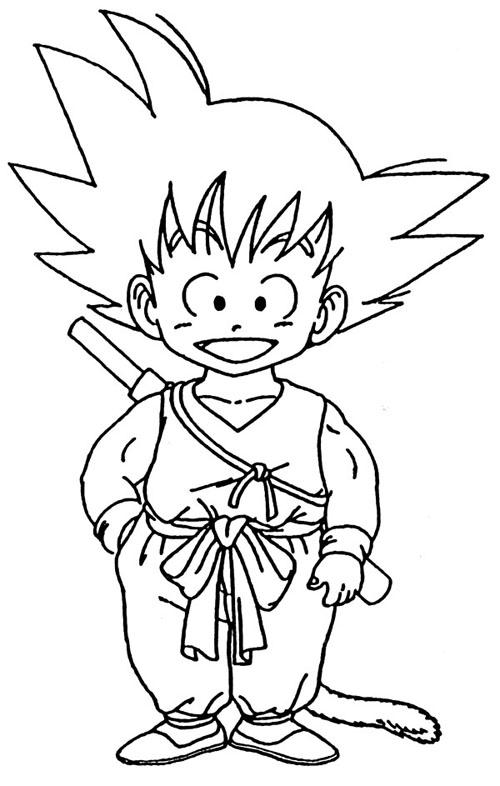 Dragonball Goku Coloring Page