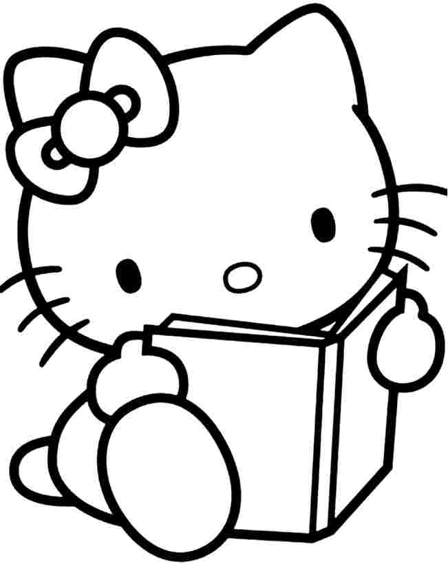 Easy Coloring Pages - Hello Kitty