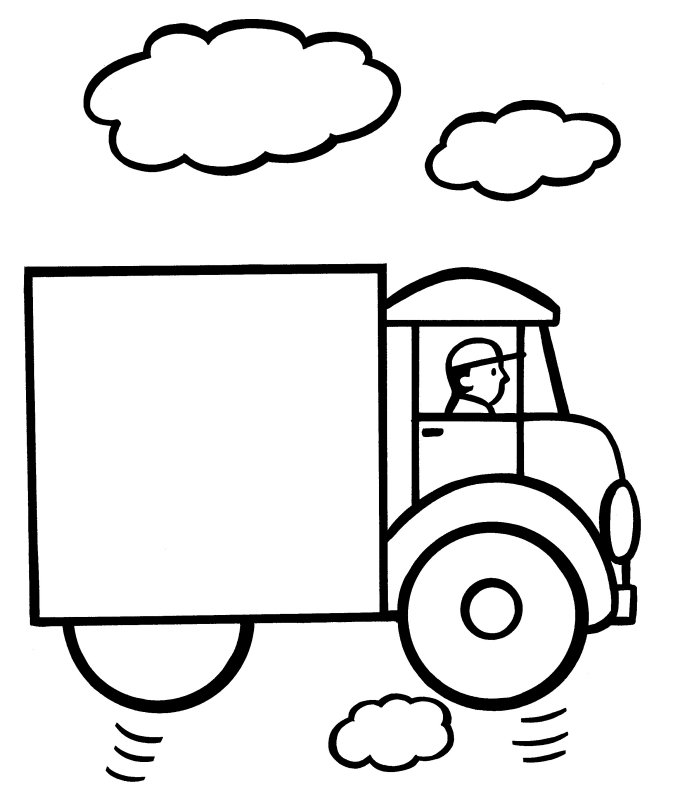 Easy Coloring Pages - Truck