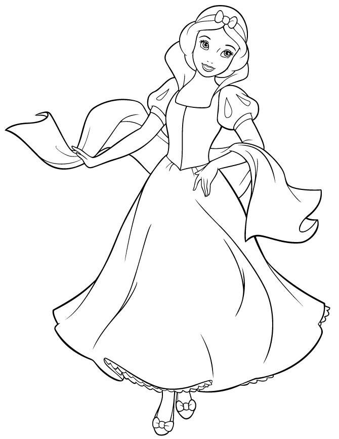 Free Snow White Coloring Pages