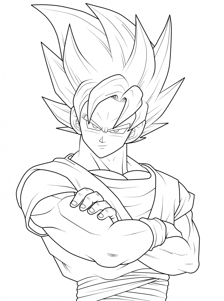 Goku Super Saiyan - Dragon Ball Z Coloring Pages
