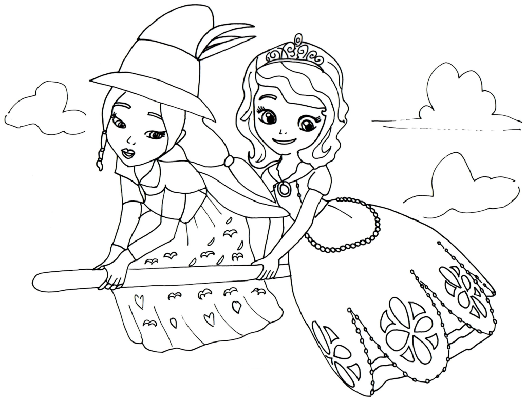 Good Witch Sofia the First Coloring Pages