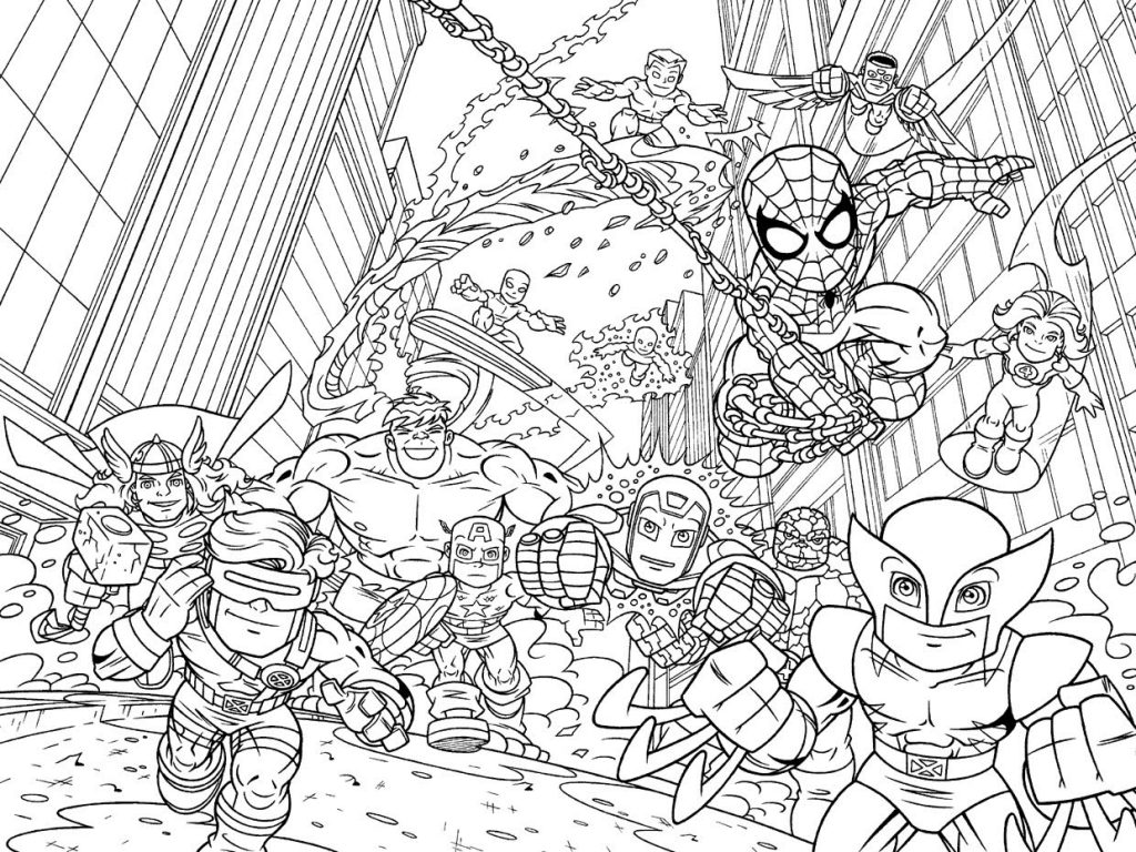Marvel Coloring Pages Best Coloring Pages For Kids