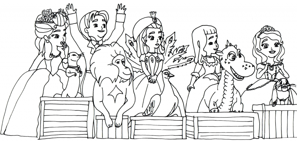 Print Sofia the First Coloring Pages