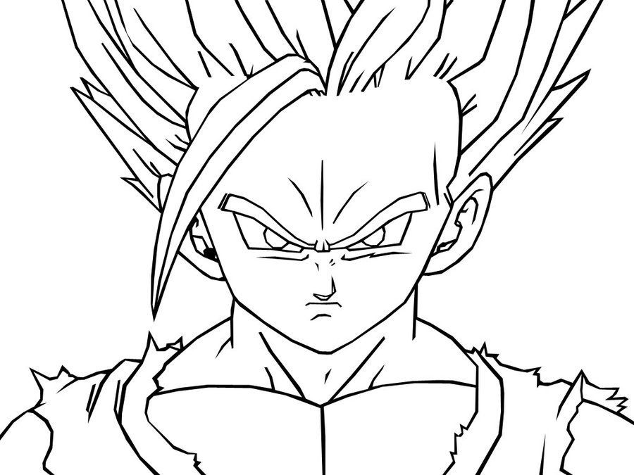 SSJ2 Gohan -Dragon Ball Z Coloring Pages