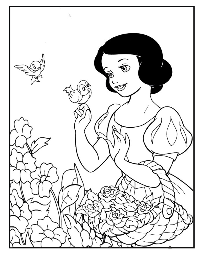 coloring pages snaow white - photo#23