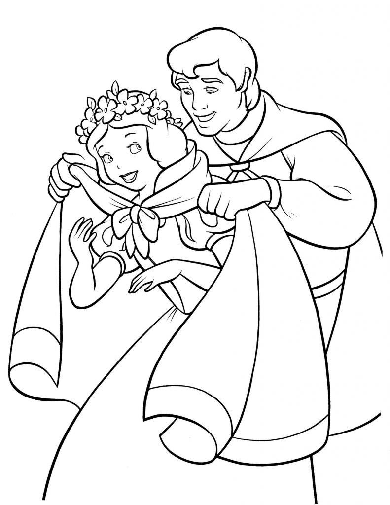 Snow White Pictures to Color