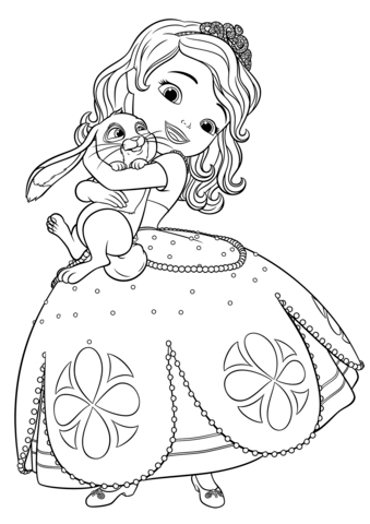 Sofia and Clover Coloring Pages