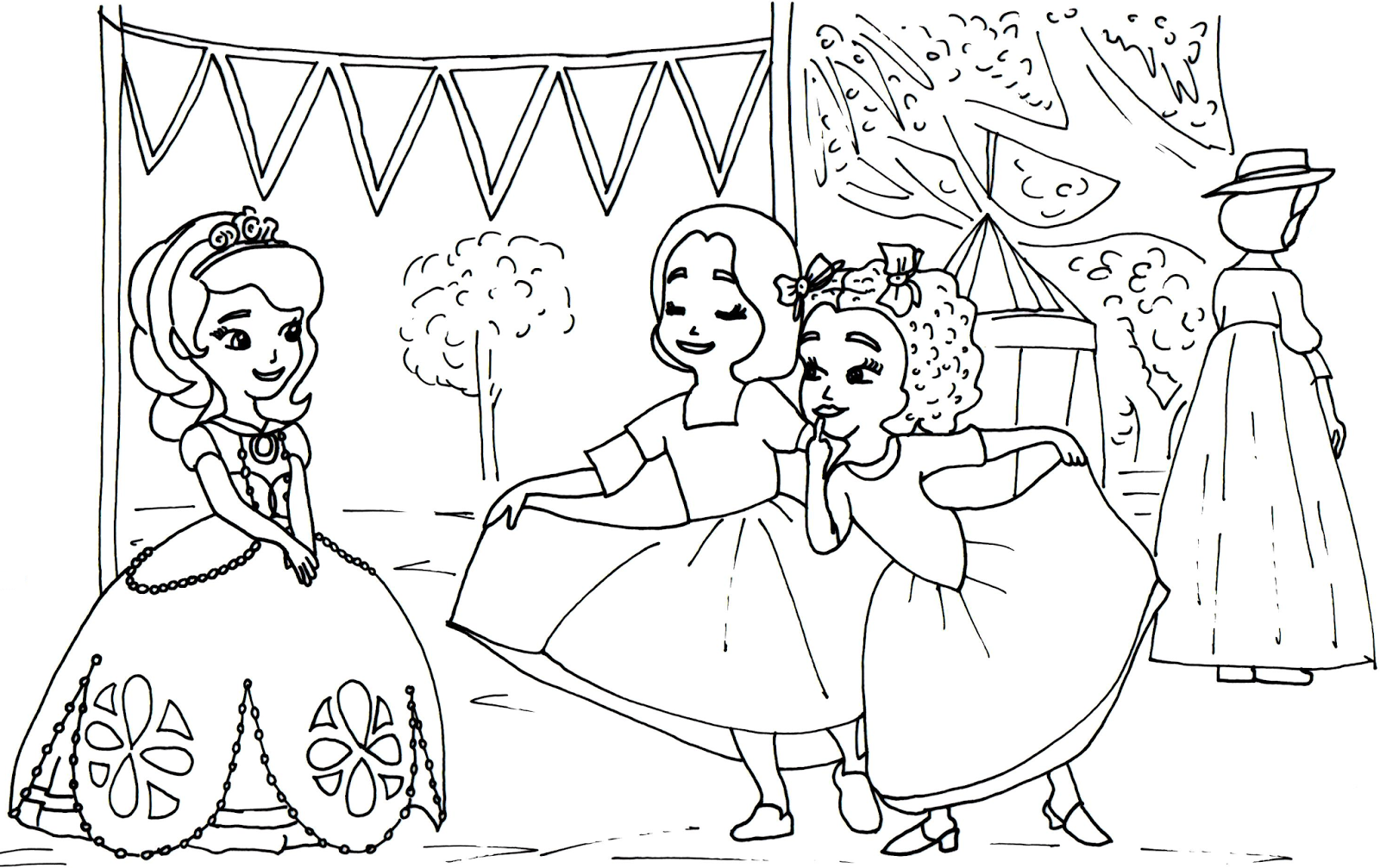 Sofia the First Coloring Pages Free Printables