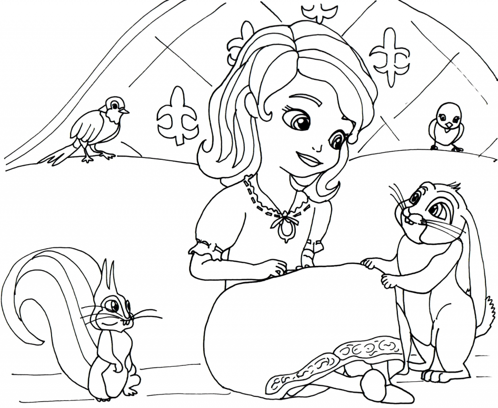Sofia the First Princess Coloring Pages