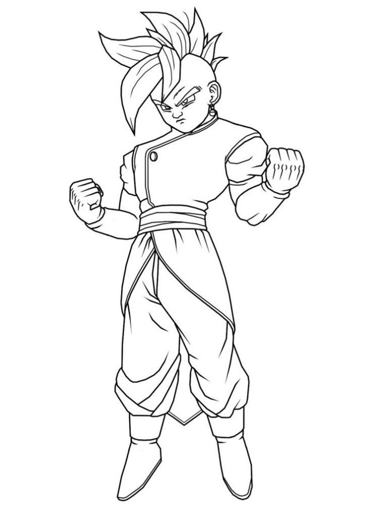 Supreme Kai - Dragon Ball Z Coloring Pages
